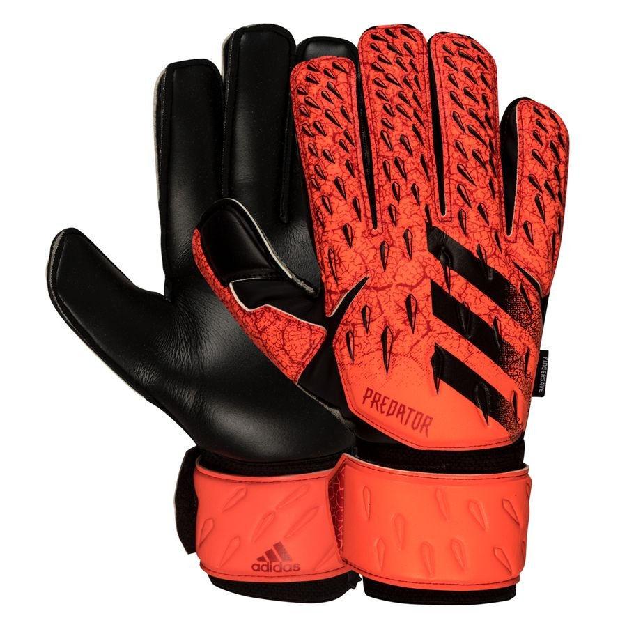 adidas Keepershandschoenen Predator Match Fingersave Meteorite - Rood/Zwart