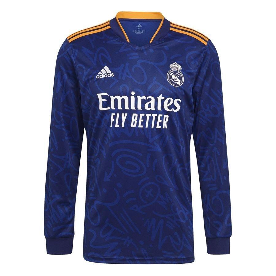 Real Madrid Udebanetrøje 2021/22 Børn Lange Ærmer