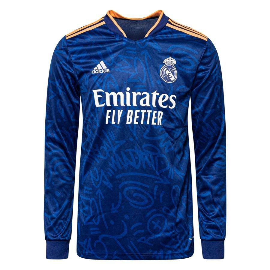 Real Madrid Udebanetrøje 2021/22 Lange Ærmer
