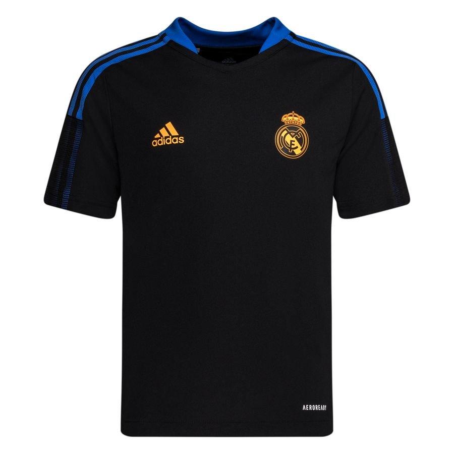 adidas Real Madrid Trænings T-Shirt Tiro - Sort Børn