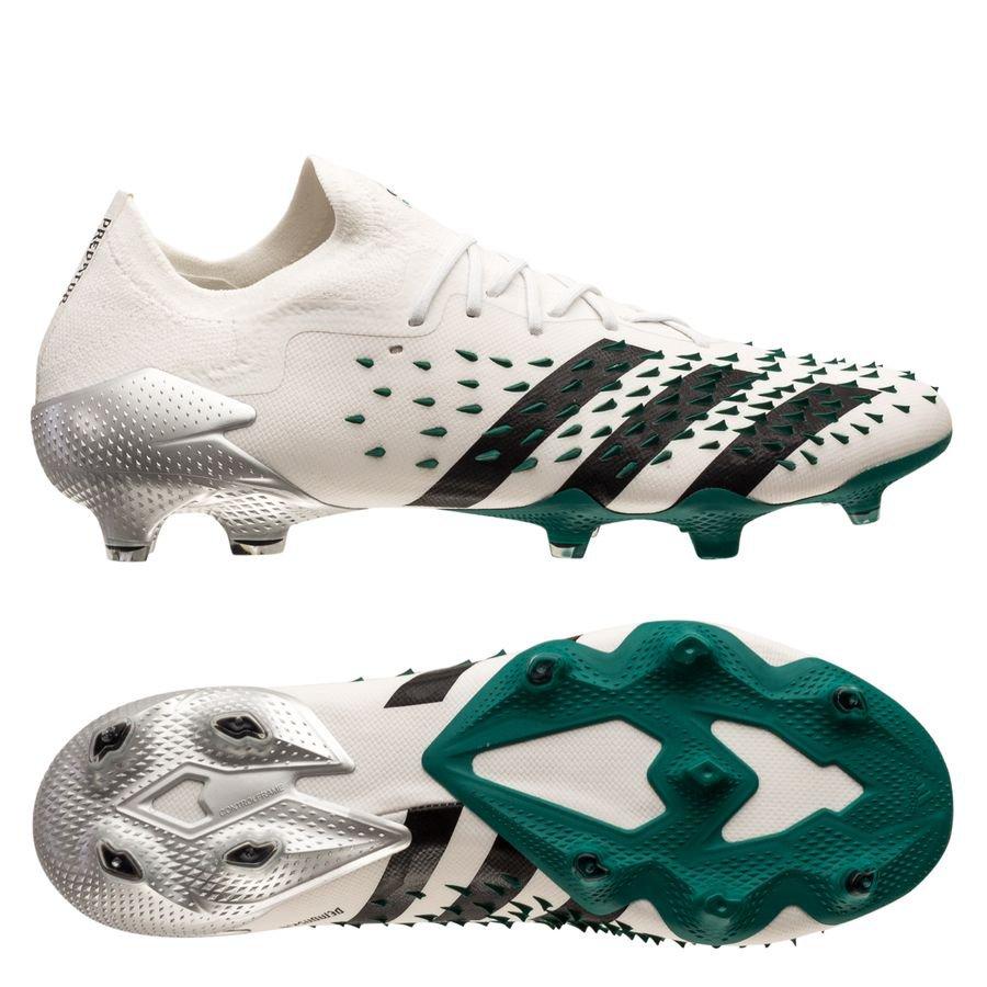 adidas Predator Freak .1 Low FG Equipment - Hvid/Sort/Grøn LIMITED EDITION