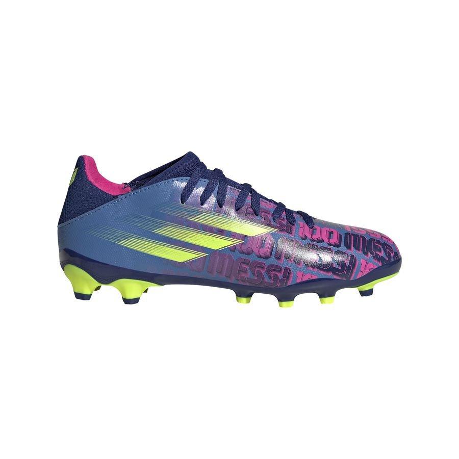 adidas X Speedflow Messi .3 MG Unparalleled - Blå/Pink/Gul Børn