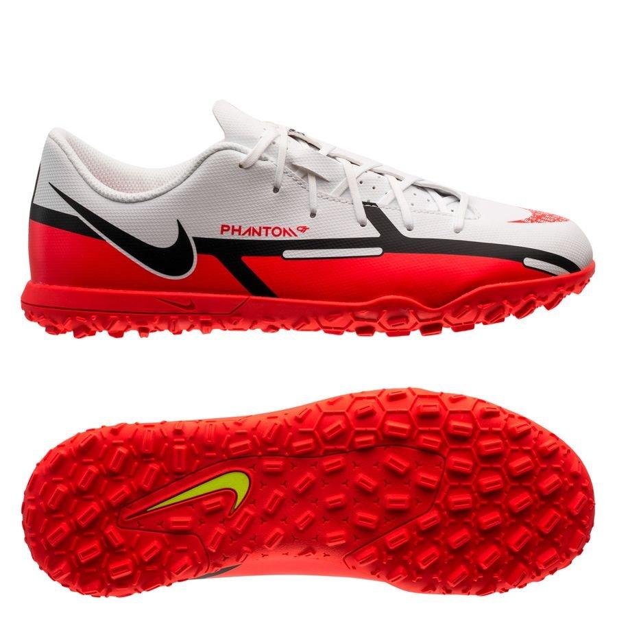Nike Phantom GT 2 Club TF Motivation - Hvid/Rød/Neon Børn