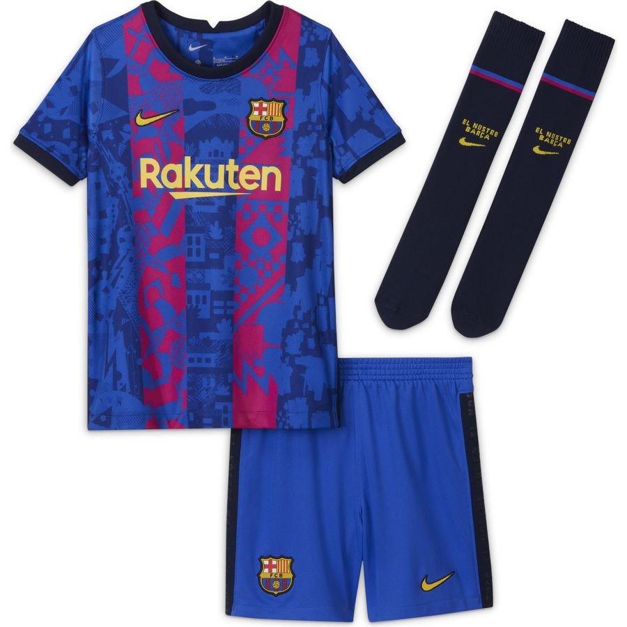 Barcelona 3. Trøje 2021/22 Mini-Kit Børn