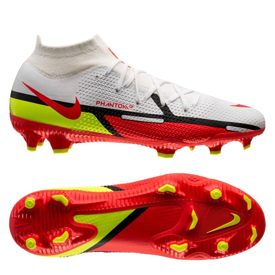 Nike Phantom GT 2 Pro DF FG Motivation - Hvid/Rød/Neon