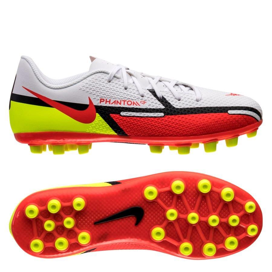 Nike Phantom GT 2 Academy AG Motivation - Hvid/Rød/Neon Børn