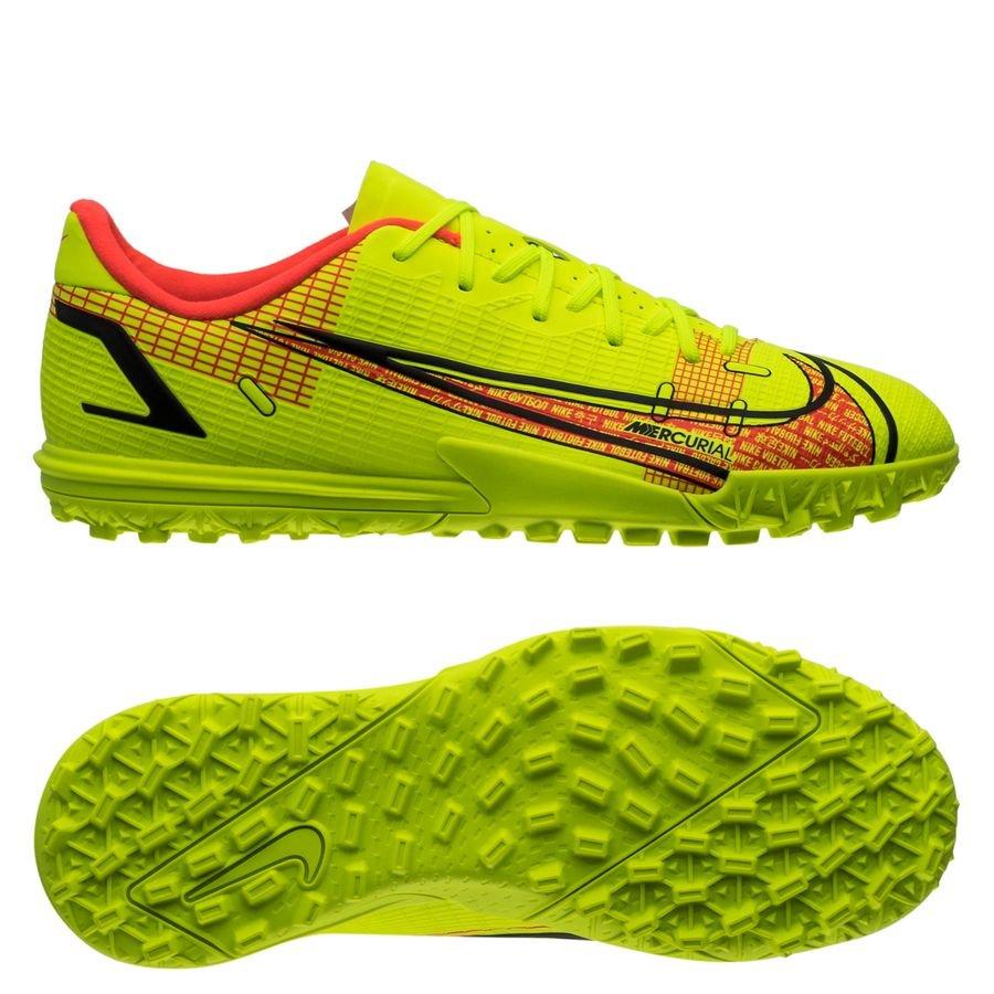 Nike Mercurial Vapor 14 Academy TF Motivation - Neon/Rød Børn