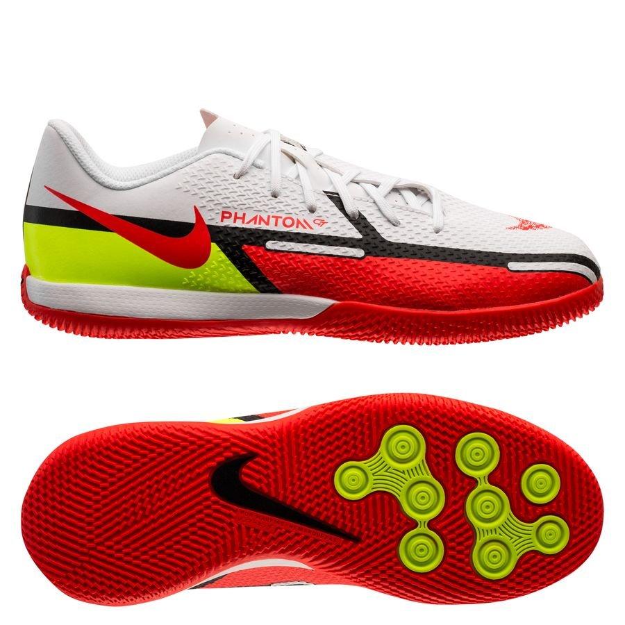 Nike Phantom GT 2 Academy IC Motivation - Hvid/Rød/Neon Børn
