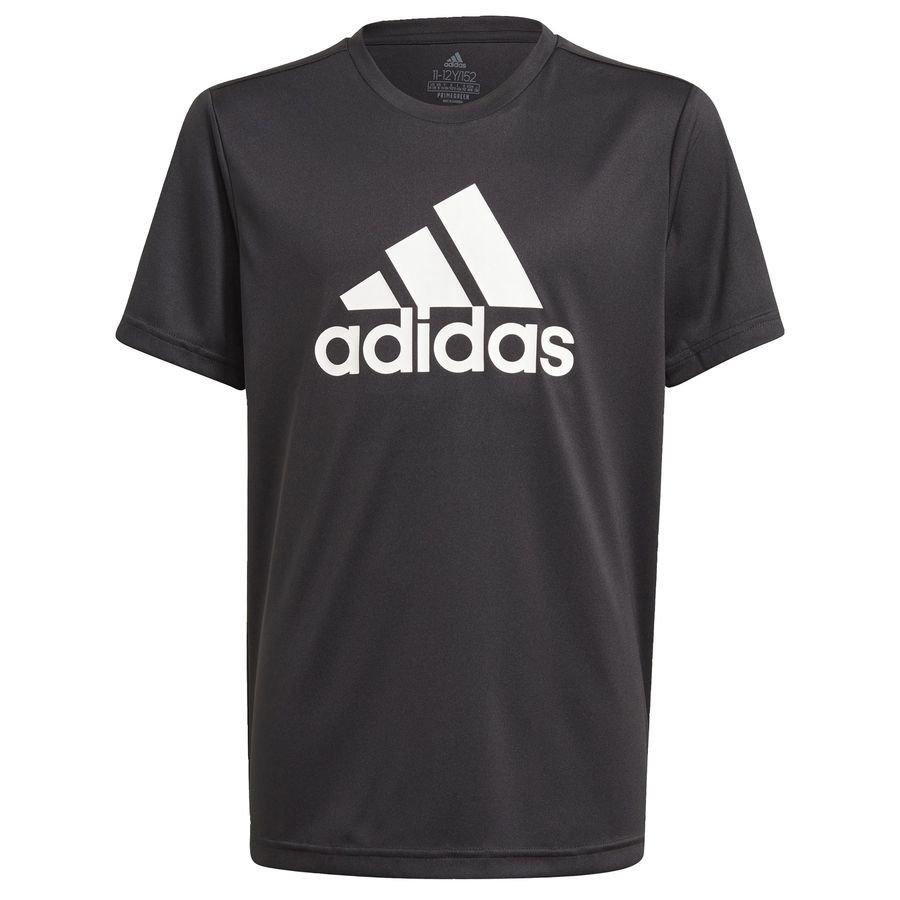 adidas Designed To Move Big Logo T-shirt Sort Børn thumbnail