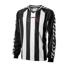 hummel spilletrøje striped l/æ sort/hvid -