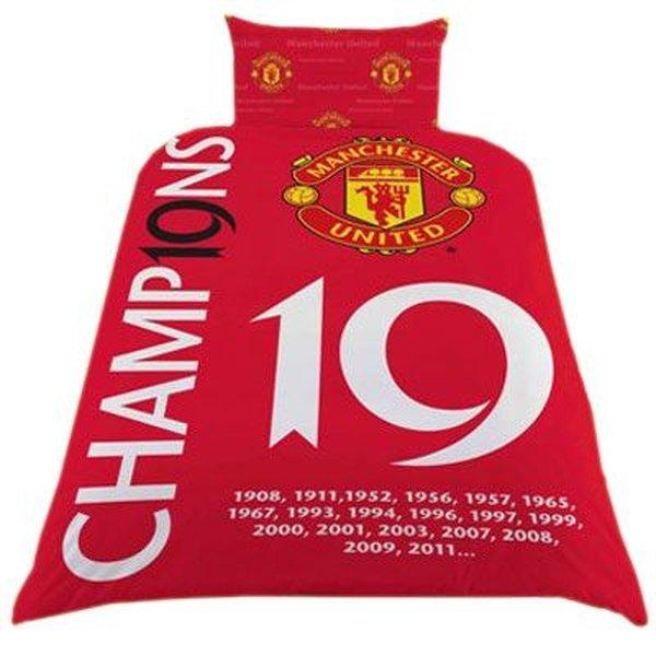 Manchester United Duvet Set 19 Champions Www Unisportstore Com