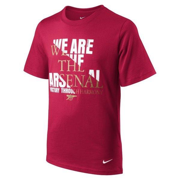 arsenal t-shirt rød/hvid børn -