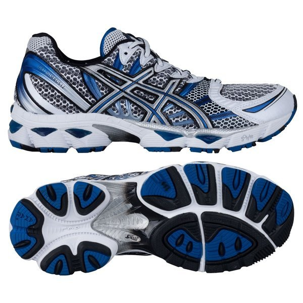 Asics Running Shoes Gel Nimbus 12 WhiteBlueSilver