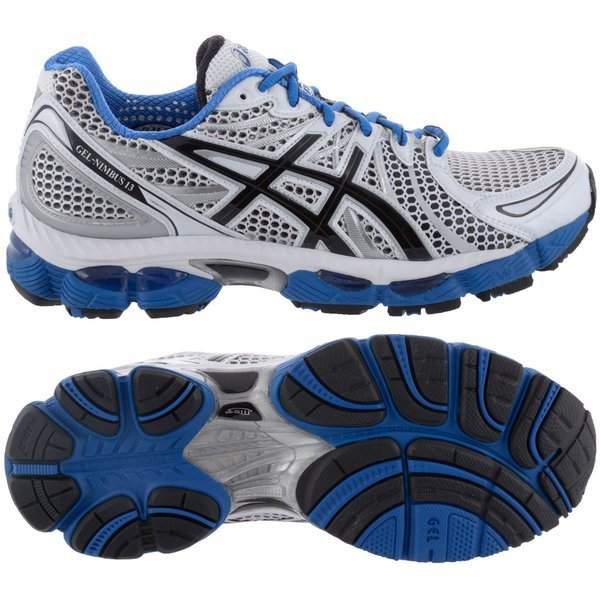 Asics Running Shoe Gel Nimbus 13 White/Blue/Black