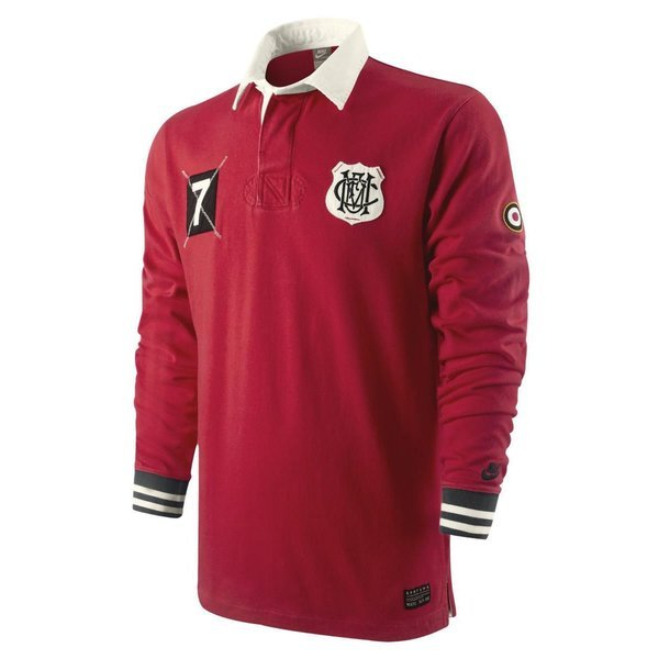 wholesale dealer 2e981 8fe87 Nike Manchester United Rugby Shirt 1823 Red | www ...