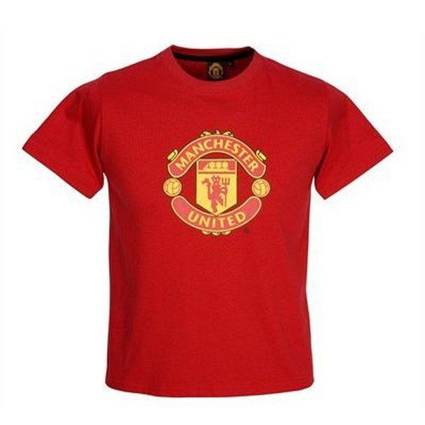 manchester united t shirt jnr l kids crest www. Black Bedroom Furniture Sets. Home Design Ideas