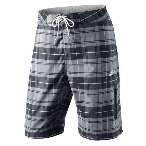Nike Board Shorts Plaid GreyBlack
