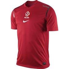 polen trænings t-shirt pre match rød  -