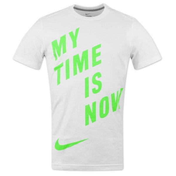 nike t-shirt clash hvid/grøn  -