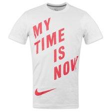 nike t-shirt clash hvid/pink  -