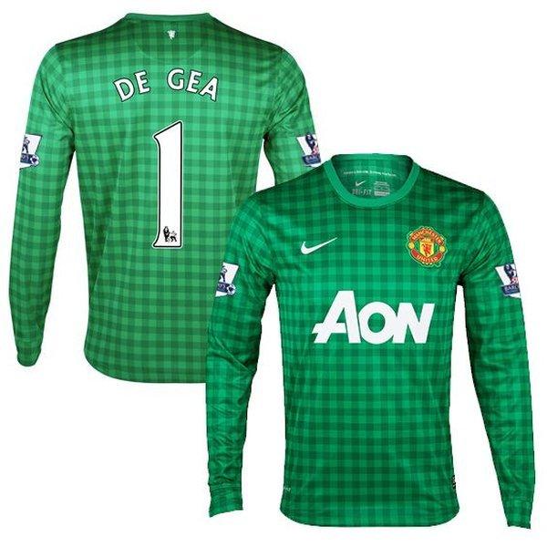newest collection 34425 9de0e Manchester United Goalkeeper Shirt 2012/13 Green Kids DE GEA ...
