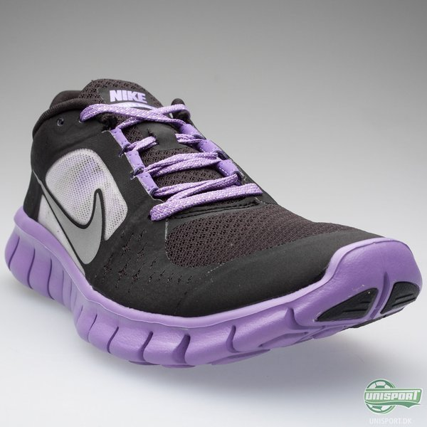 Nike Running Shoes Free Run 3+ BlackPurple Kids   www