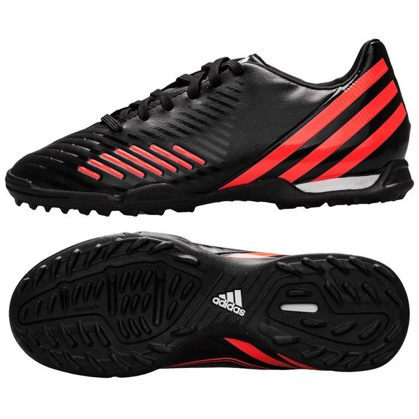 huge discount d1398 f4a06 adidas predator absolado lz tf black white red kids ...