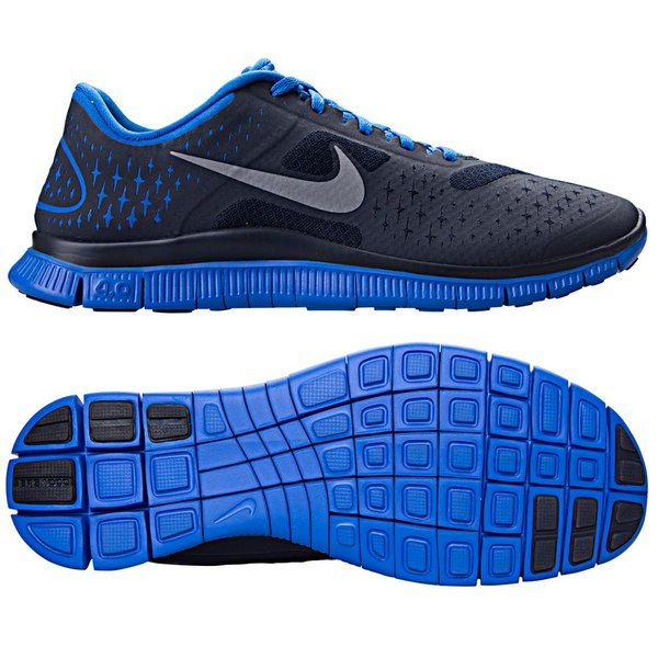 pretty nice 1b58e 0a819 Nike Free 4.0 V2 Black/Blue | www.unisportstore.com