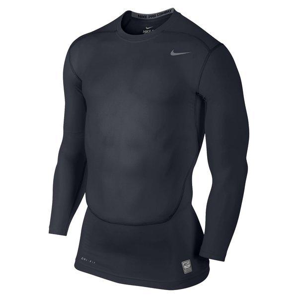 7cf4ee2c82fca Nike Pro Combat Compression T-Shirt L/S Navy | www.unisportstore.com