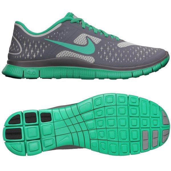 Nike Running Shoe Free 4.0 V2 Strata GreyReflective Silver Cool GreyNeo Turquoise