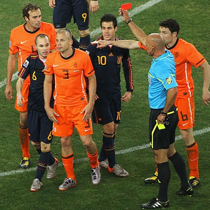 Top 5 rode kaarten op het WK