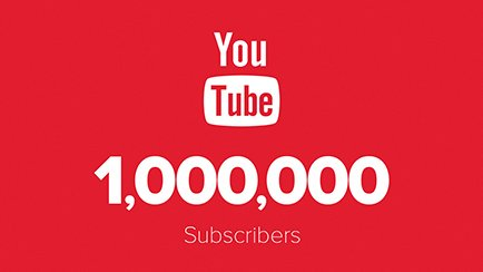 1,000,000 YouTube subscribers