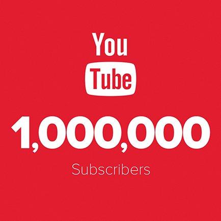 1 000 000 d'abonnés sur YouTube
