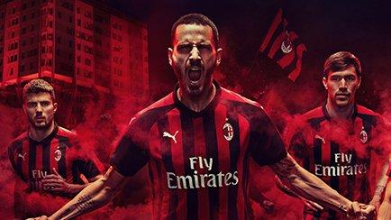 Nouveau Maillot Domicile 2018/19 de l'AC Milan