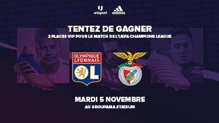 2 places VIP OL-Benfica | Gagnez-les avec Unisport