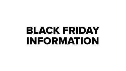Informations importantes à propos de Black Frid...