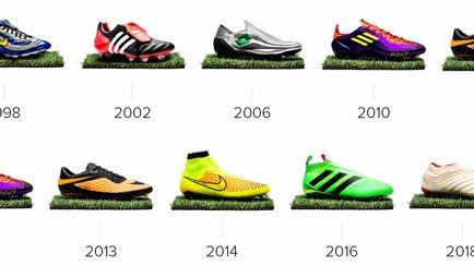10 belangrijke voetbalschoenen van de afgelopen...