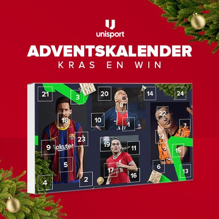 Win coole voetbalcadeaus met Unisport's Advents...