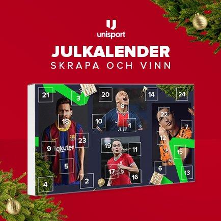 Vinn fantastiska julklappar i Unisports julkale...