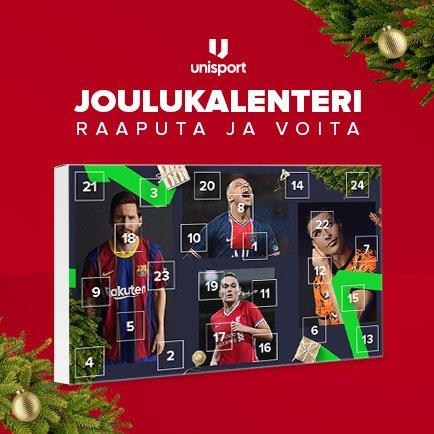Voita upeita lahjoja Unisportin joulukalenterista