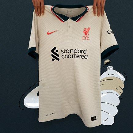 Liverpool udebanetrøje 2021/22   Tjek den ud på...