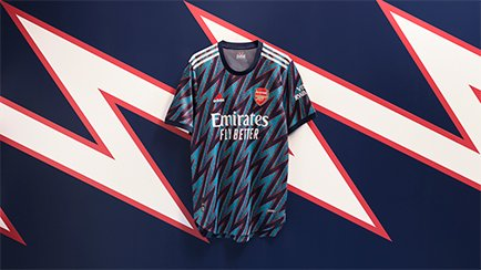 Arsenal 3rd shirt 2021/22   New bold design fro...