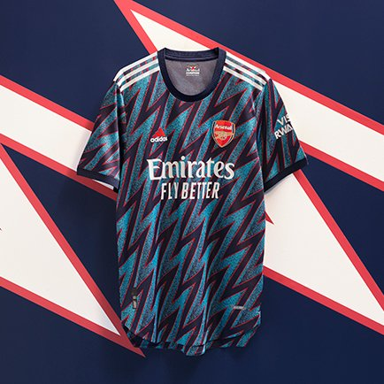 Arsenal tredjetröja 2021/22 | Ny design från ad...