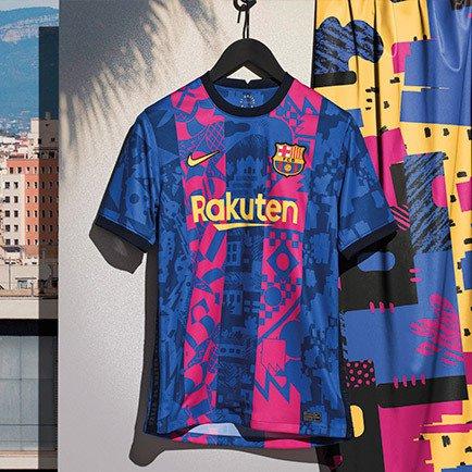 Barcelona 3e shirt 2021/22   Bekijk hem bij Uni...
