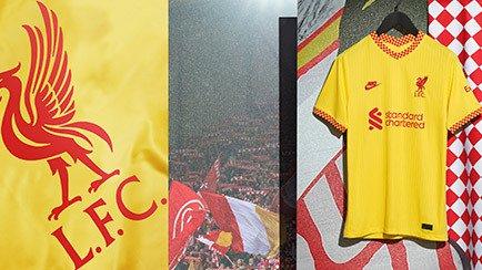 The new Liverpool 2021/22 third shirt has lande...