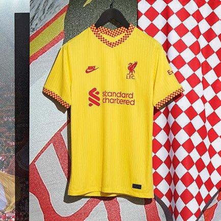 Liverpoolin uusi 3. paita kaudelle 2021/22 saap...