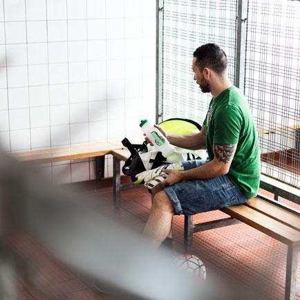 Vilken fotbollsutrustning använder vi på Unispo...