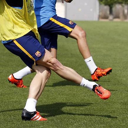 Schoenenspots in overvloed bij training Barcelona